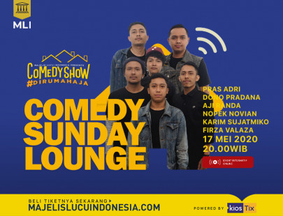 COMEDY #DIRUMAHAJA : COMEDY SUNDAY LOUNGE